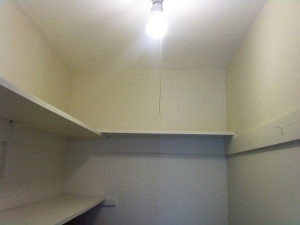 empty pantry shelves