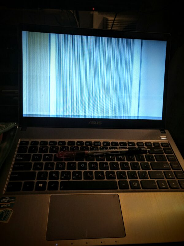 static on a laptop screen